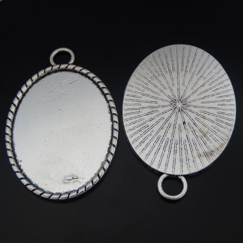 GraceAngie 5 PiecesTopAlloy Antik Gümüş Oval Cameo 40*30mm Kolye Charms DIY 50*34mm (50357)