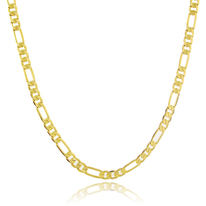 Wholesale Vintage 70 CM Long Flat Small Square Link Chain Men/Women Jewelry Accessories 24K Gold Cover Necklace JP078